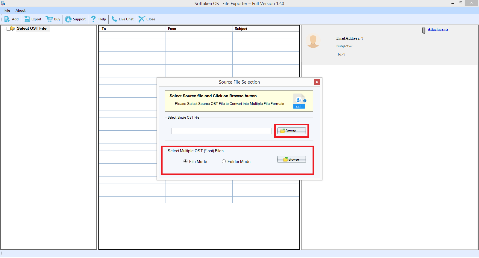 install ost to pst converter